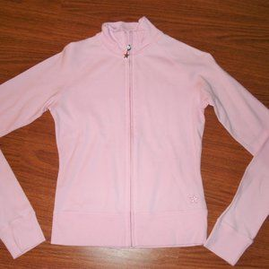 New! Garage pink zip up sweater, star zipper pull